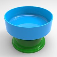 Small anti ant dog bowl/moat/platform 3D Printing 37138