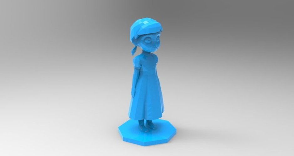 young anna from frozen 3D Print 37148