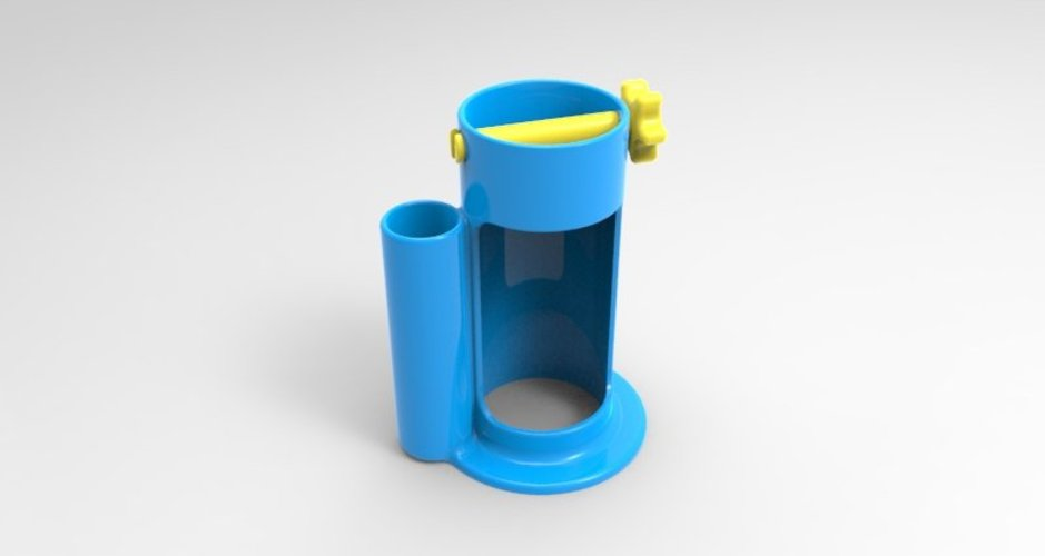 toothpaste squeezer and tube holder w toothbrush holder 3D Print 37151
