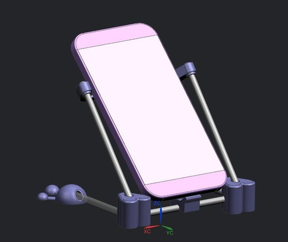 Mobile Phone support heart  version 3D Print 37201