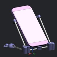 Small Mobile Phone support heart  version 3D Printing 37201