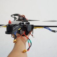 Small Handsome Quadcopter size 450 (for small 20x15x15cm 3d printer) 3D Printing 37280