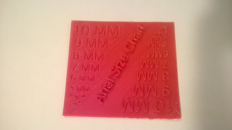 Arial Font Size Test 3D Print 37307