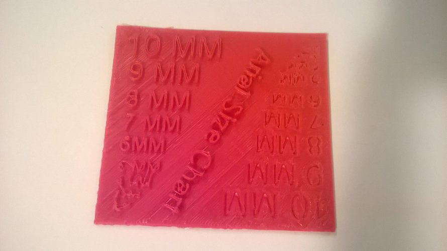 Arial Font Size Test 3D Print 37308