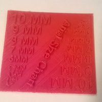 Small Arial Font Size Test 3D Printing 37308