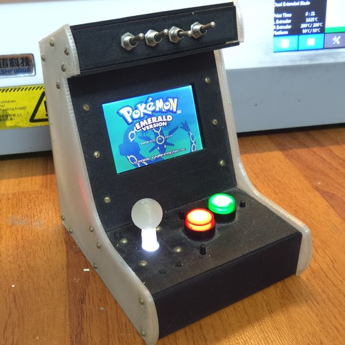 3D Printed Arcade Cabinet for GBA advance SP - real working by ...