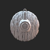 Small Stylized shield keyring 3D Printing 37351