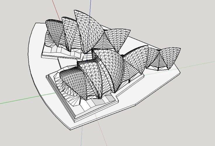 3D Printed Sydney Opera House by dodo2000 | Pinshape