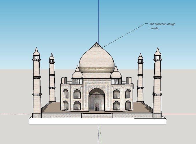 3d Printed Taj Mahal By Dodo2000 Pinshape