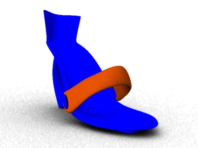 shoes with hart 3D Print 37514
