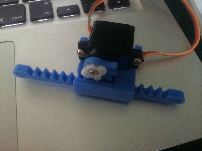 3d printed linear actuator for mini servo 11 20gr by for Servo motor linear actuator