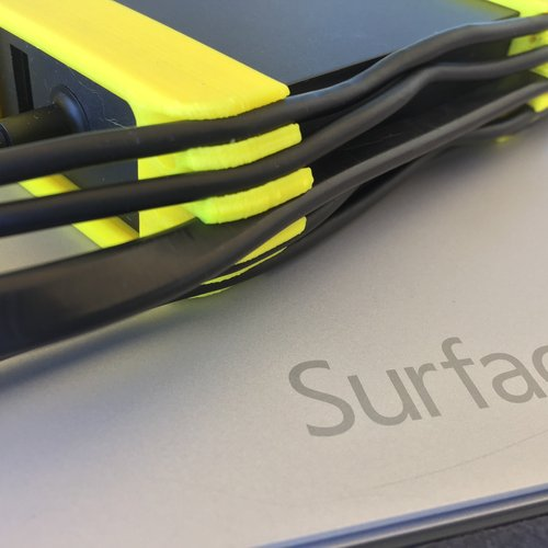 Surface Pro 3 Power Supply Cord Wrapper 3D Print 37606