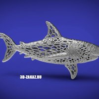Small Deep water Steel style Voronoi 3D Printing 37607