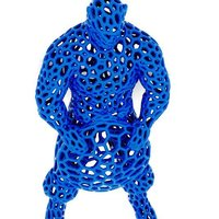Small Captain America in stile Voronoi  3D Printing 37636