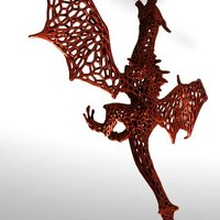 Small Dragon  in stile Voronoi  3D Printing 37681