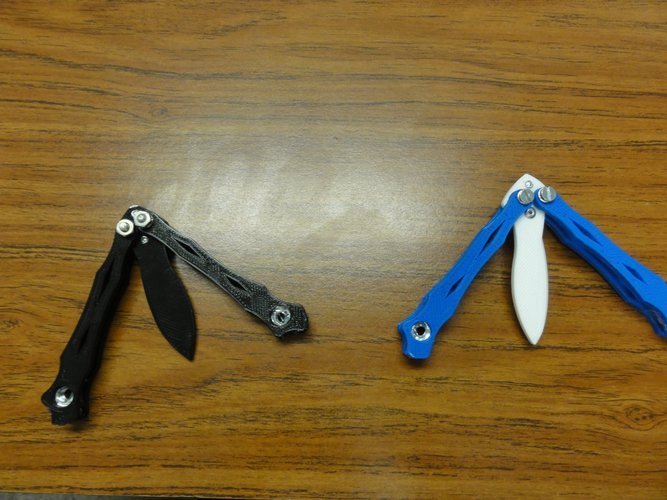 spyderco smallfly butterfly knife 3D Print 37727