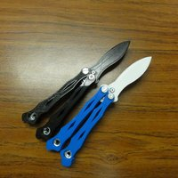 Small spyderco smallfly butterfly knife 3D Printing 37728