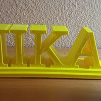 Small Pi Kappa Alpha desktop sign  3D Printing 37771