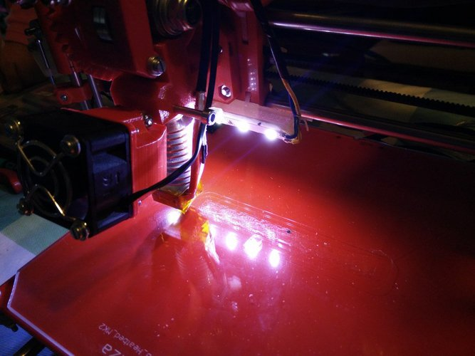 Support for LEDs Prusa i3 3D Print 37866