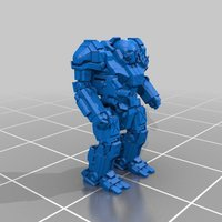 Small Mechwarrior Atlas 3D Printing 37876