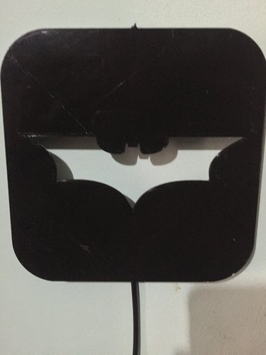 Wall Lamp (LED): Batman 3D Print 37996