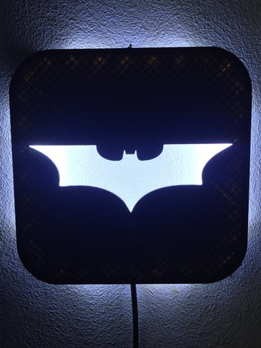 Wall Lamp (LED): Batman 3D Print 37997
