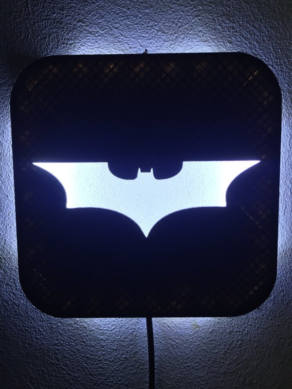 Medium Wall Lamp (LED): Batman 3D Printing 37997