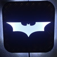 Small Wall Lamp (LED): Batman 3D Printing 37997
