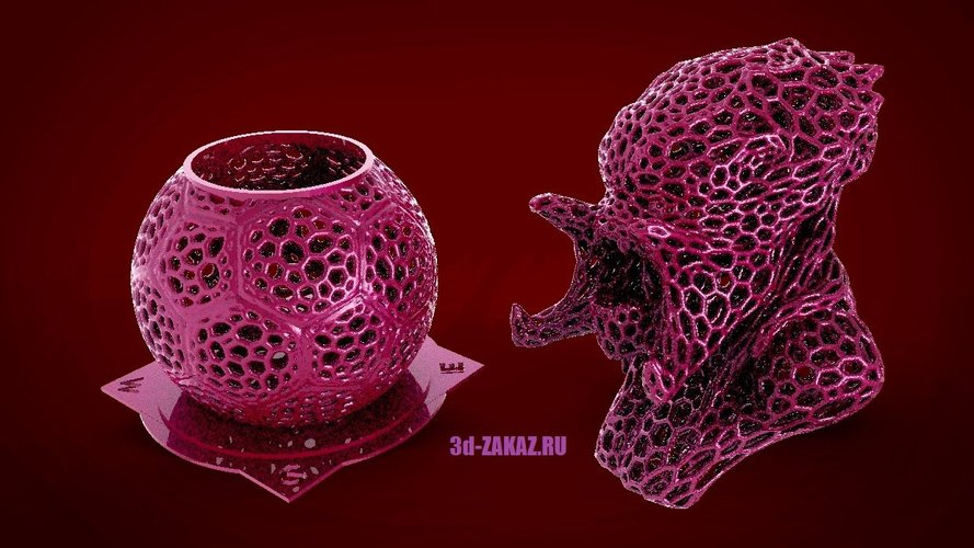 Pen holder for Predator style Voronoi 3D Print 38007