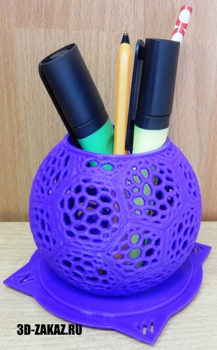 Pen holder for Predator style Voronoi 3D Print 38009