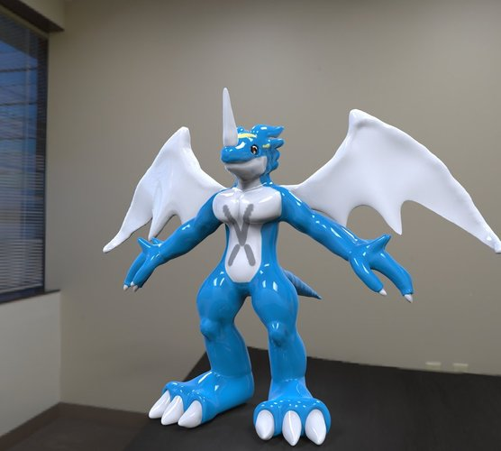 Ex Veemon ActioN Figure Scuilpt 3D Print 38016