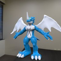 Small Ex Veemon ActioN Figure Scuilpt 3D Printing 38016