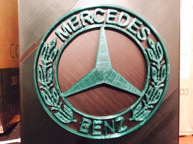 3d printed mercedes benz 3d logo by yvan proteau pinshape for Mercedes benz logo 3d