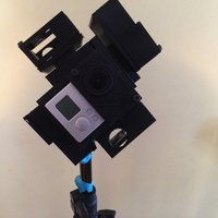 Small Go Pro 360 degree attachement 3D Printing 38045