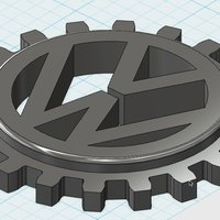 Small VW original logo 1940 3D Printing 38057