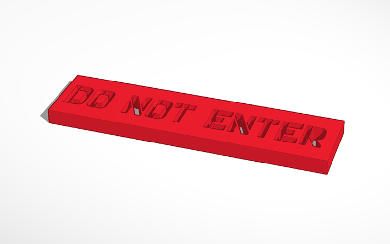 Sing holder and do not enter sing 3D Print 38089