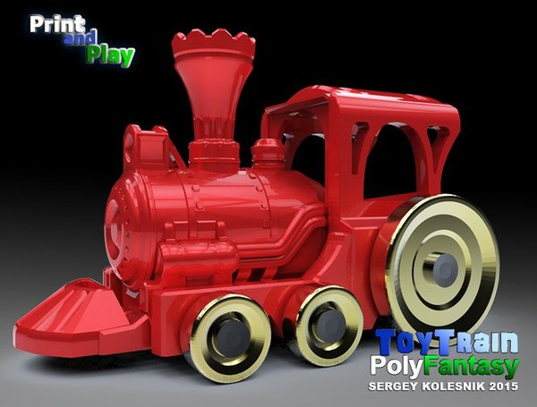 Medium Toy Train 3D Printing 38097