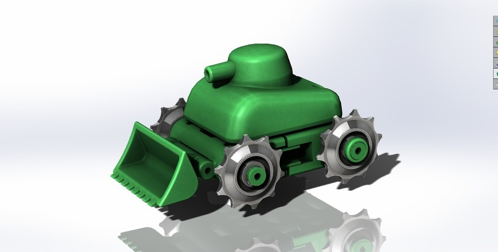 Motorized Tank & Robot Chassis & Toy 3D Print 38207