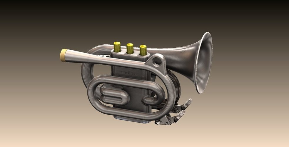 Full Size Pocket Cornet 3D Print 38273