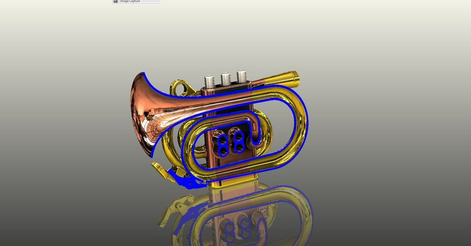 Full Size Pocket Cornet 3D Print 38279