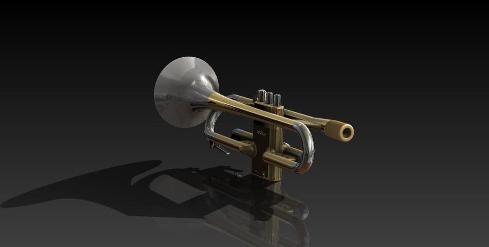 Full Size Working Trumpet 3D Print 38288