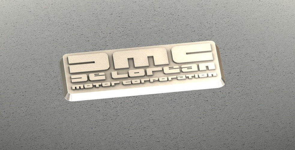 DMC De Lorean Badge 3D Print 38309