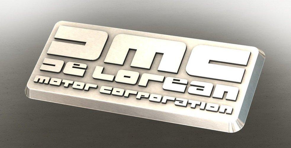 DMC De Lorean Badge 3D Print 38312