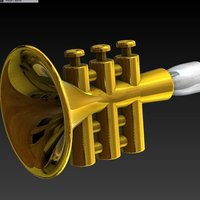Small Brass Practicer 3D Printing 38317