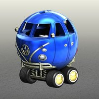 Small Vw T1 bus toy 3D Printing 38348