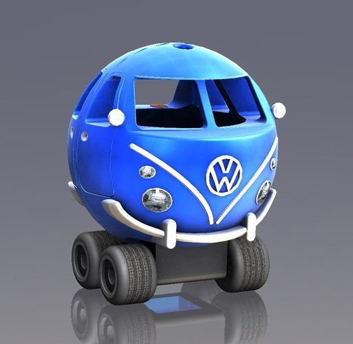 Vw T1 bus toy 3D Print 38353
