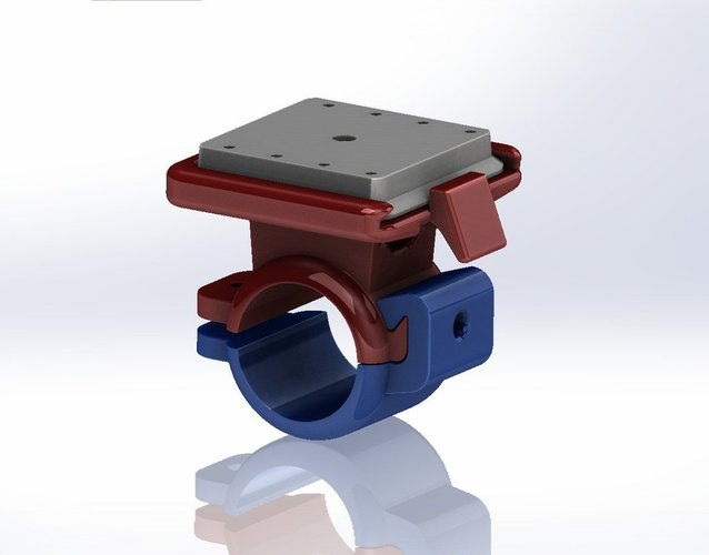 Electronic Device Holder (With Quick Release) for Bikes  3D Print 38374