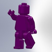 Small Movable Mini Figure v2.0 3D Printing 38485