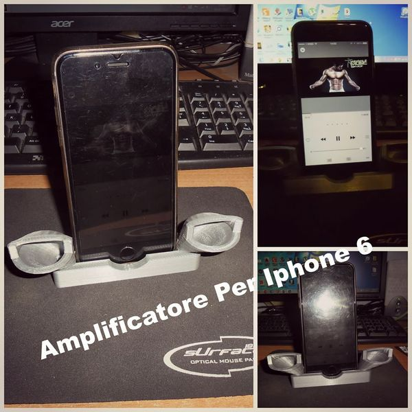 Medium Amplifier Iphone 6 3D Printing 38505