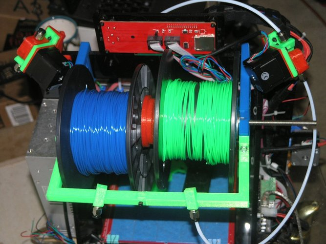 The Pursa I3 Dual Spool Holder And Filament Driver Sneek Peek 3D Print 38575